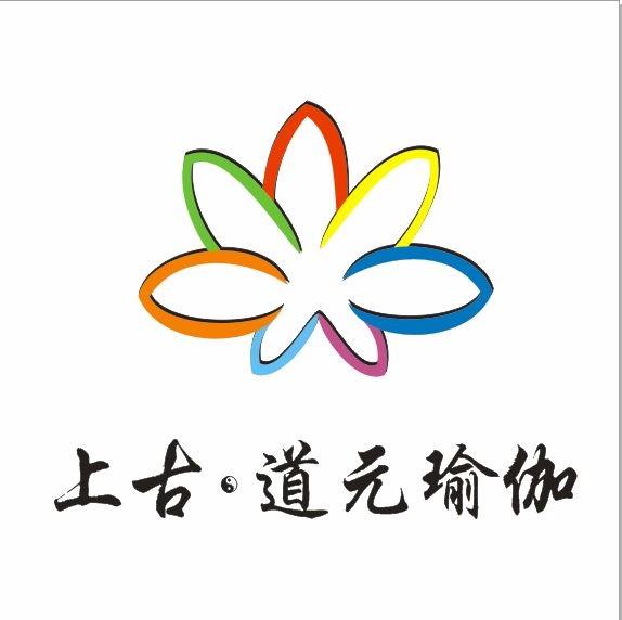 瑜伽logo线条设计