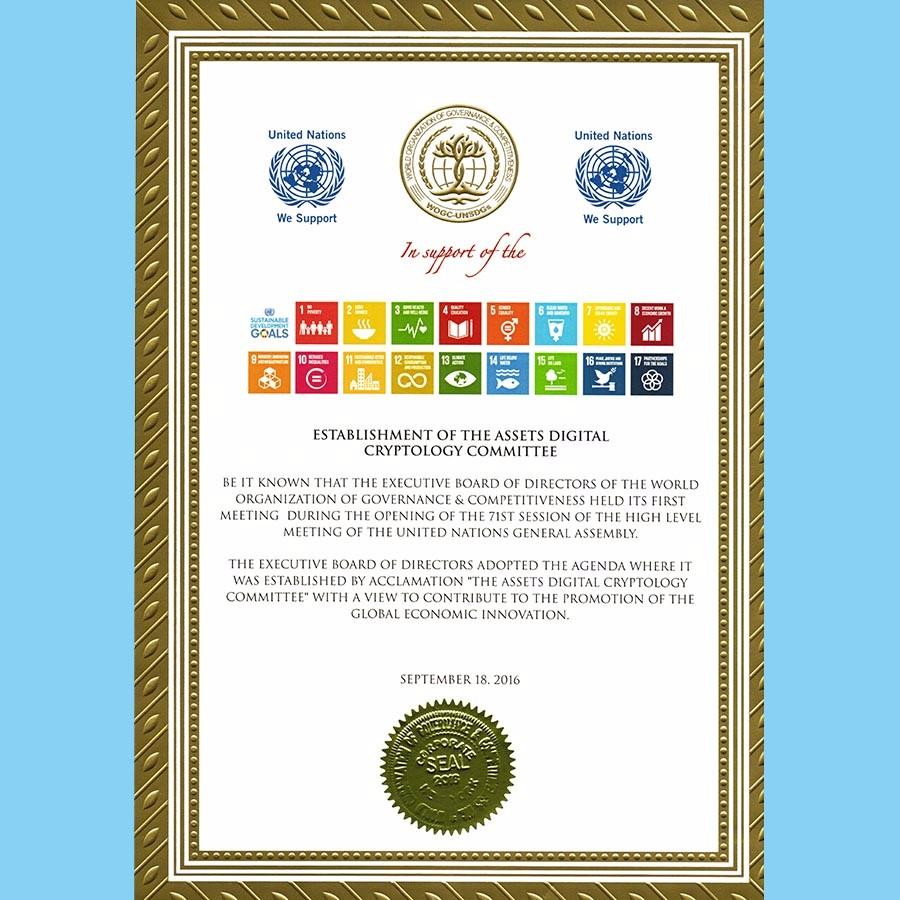 全球资产数字加密委员会 联合国提出的可持续发展、各国人民共同富裕、世界和平的实现为发展目标。协助各国开展国家规划,合理有效利用资源;有效消除贫困与饥饿;实现各国的经济发展、社会进步、民众富强、文化提升的各项任务。为世界的和平做出贡献。 公平竞争,促进合作,实现共赢,推进全球各国可持续发展,构建人类命运共同体其核心是与时俱进,站在人类历史的高度重新审视作为人类历史发展的各个必然要素自主调节的发展趋势。毋庸置疑,随着世界一体化进程和互联网的极速发展,中心化的管理手段和治理手段都面临着极大挑战,货币和资产作为人